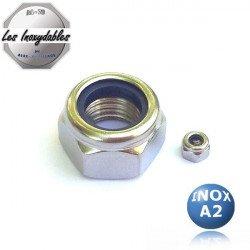 Ecrou frein nylstop - INOX A2 - DIN 985 - type HI