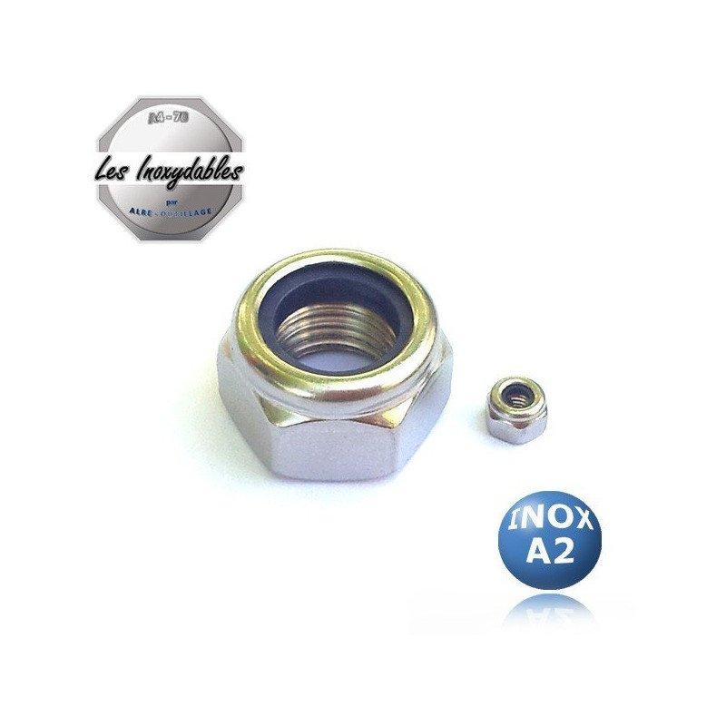 Ecrous - Hexagonal Frein - HI - DIN 985 - INOX A2