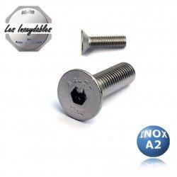 Vis métaux - TFHC - INOX A2 - tête fraisée 6 pans creux DIN 7991
