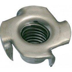 Ecrou à frapper (griffes) métaux / bois - INOX A2