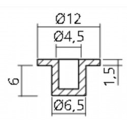 DOUILLE NYLON CYLINDRIQUE D6.5X7.5