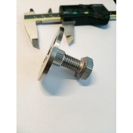Ecrou sur platine INOX A2 - diamètre 40 x filetage de 10mm