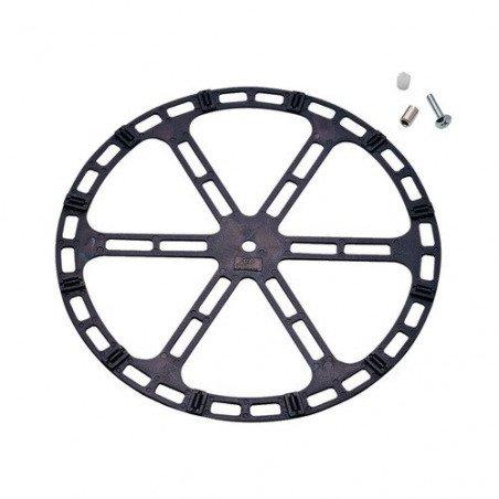 Tournette PVC sur rouleaux PVC diamètre 305 couleur noir